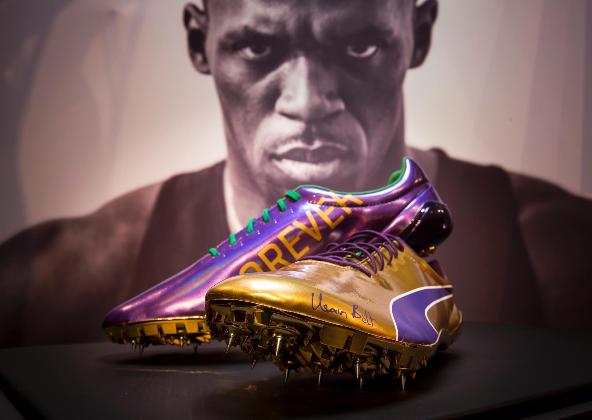 Mit Schuhen diesen laufen Usain Bolt Stars Running wie qSVUMpz