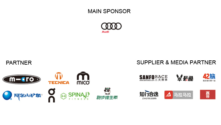 Partners, sponsors, suppliers and media partners of the Morning Run at ISPO Shanghai