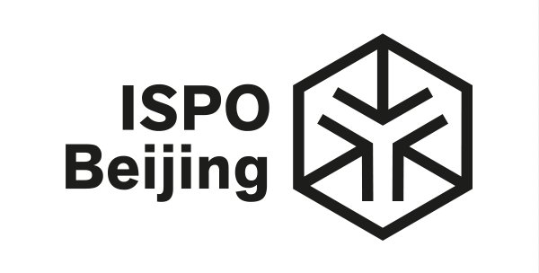 The logo of ISPO Beijing in black and white