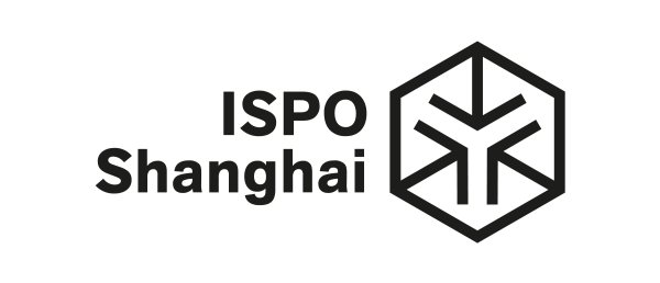 The logo of ISPO Shanghai in black and white