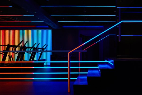 Sun-drenched is so yesterday – the new gyms focus on hard beats and electrifying lightshows to push their athletes to their limits.