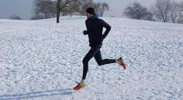 Sebastian Hallmann, winner of the Munich Wings for Life World Run 2017, trains in any weather - running in snow offers new attractions.