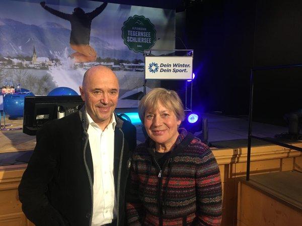 "Rosi Mittermaier and Christian Neureuther visiting ""Dein Winter. Dein Sport."""