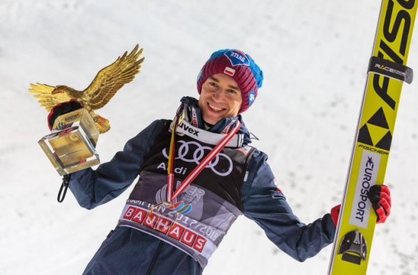 Kamil Stoch after his triumph at the Four Hills Tournament 2017/18