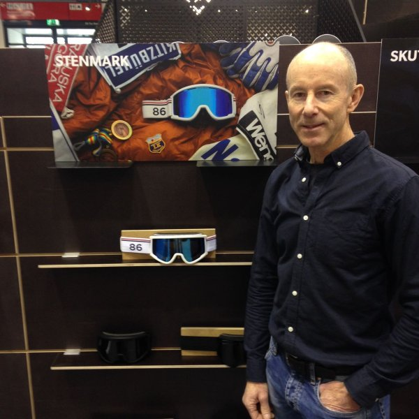 Ingemar Stenmark at the ski goggle manufacturer Spektrum at ISPO Munich 2018