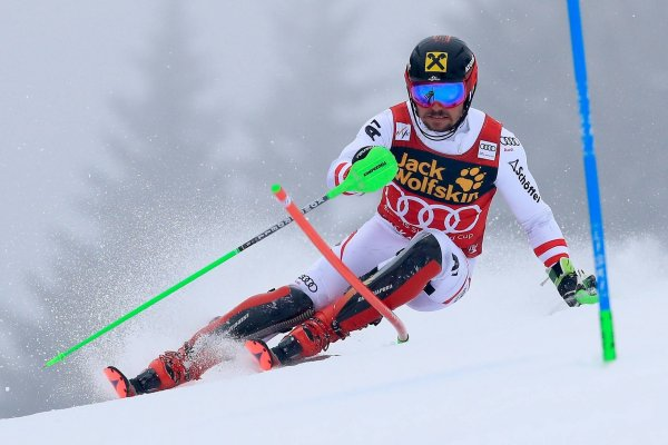 Marcel Hirscher in suit of outfiter Schöffel.