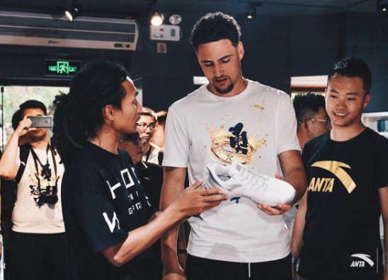 Der NBA-Basketballer Klay Thompson ist Antas Werbegesicht in China.