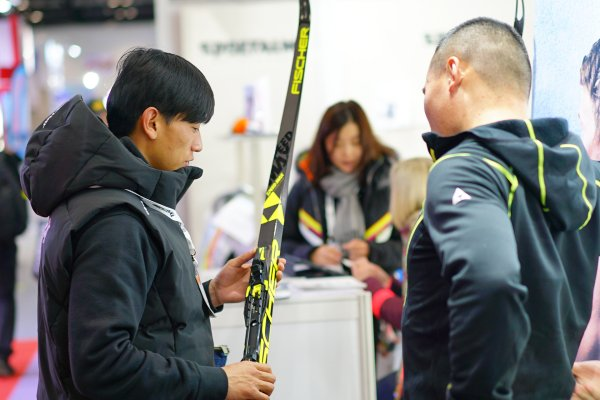 Visitors at ISPO Beijing