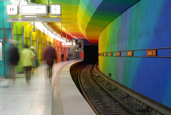 Metro station in Munich
