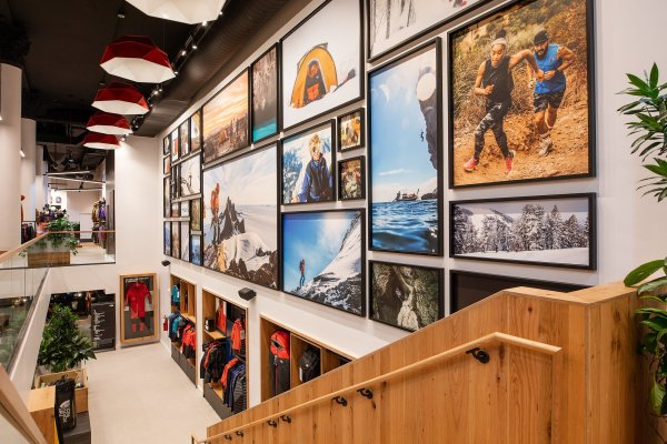 The new The North Face store in Manhattan, opened in August 2019, equipped with sustainable materials.