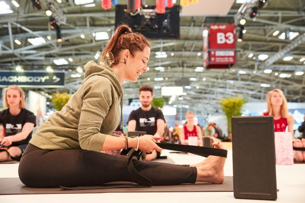 Blackroll meets Yoga with Sinah Diepold,Claudio Trento and the Basefive-Team at ISPO Munich 2021