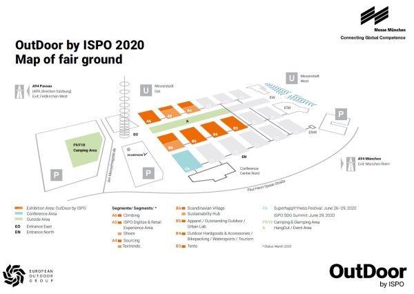 Hallplan OutDoor by ISPO 2020