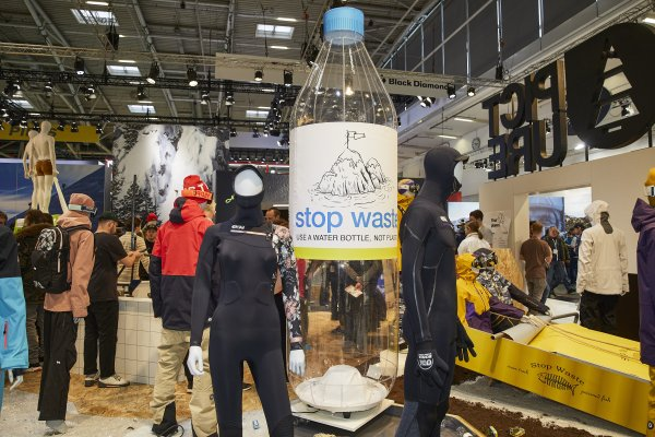 The topic of sustainability was dominant at Picture's stand at ISPO Munich 2020.