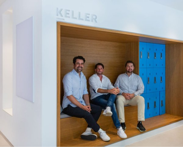 The management of the Keller Group intends to continue investing in digital tools (from left to right): Moritz Keller, Marcus Trute and Jakob Keller.