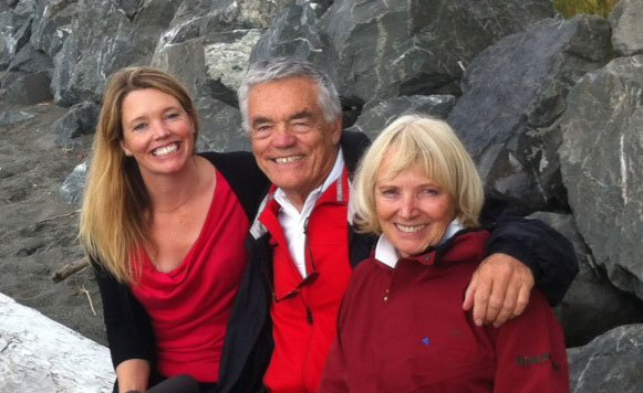 Family Hilleberg: Petra, Renate and Bo.