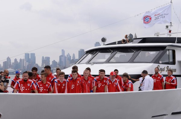 The FC Bayern squad in New York City.
