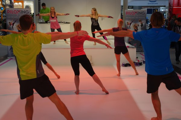 Attendees will test out the trendy new sport of PILOXING at ISPO MUNICH.