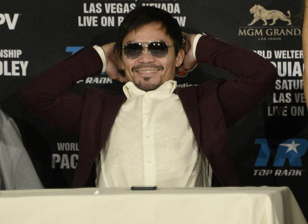 "Boxer Manny Pacquiao at a press conference in Las Vegas in 2016: Nike ended its agreement because he had called homosexuals ""worse than animals""."