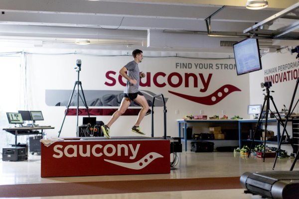 Shoes can be extensively tested in Saucony's run lab