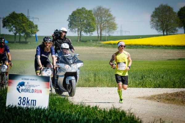 Florian Neuschwander has won as the world's best German at the Wings for Life World Run 2016.