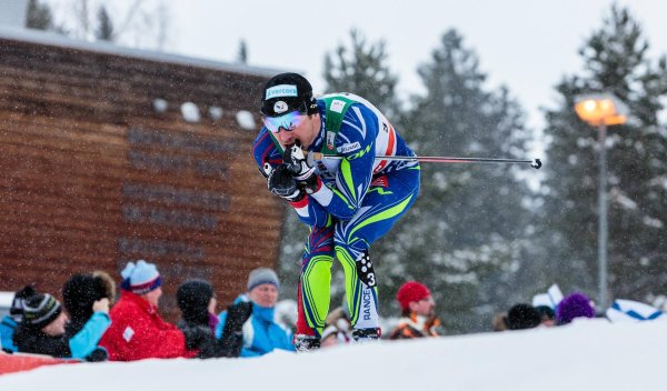 Maurice Manificat at the cross-country skiing world cup in Lahti in Finland
