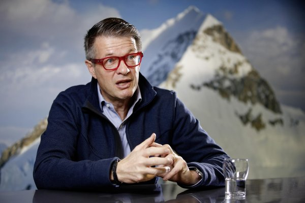 Passionate mountain climber Rolf Schmid has led Mammut as CEO for 20 years.
