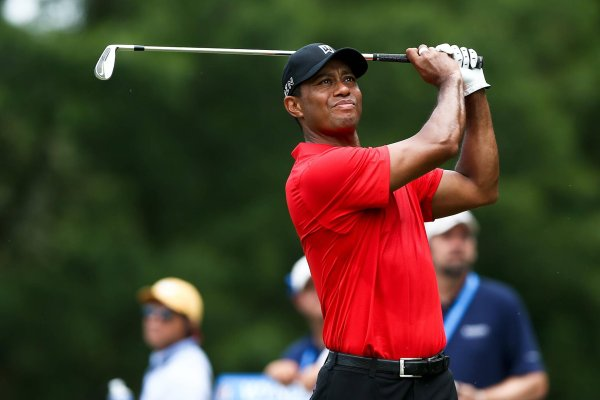 Must soon get himself a new golf club: Tiger Woods was supplied with equipment by Nike.
