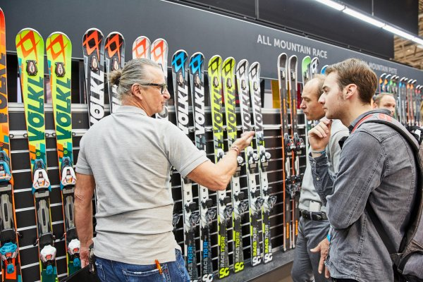 Völkl produces as innovative ski manufacturer with 400 employees in Straubing, Bavaria.