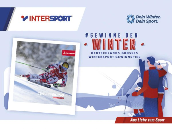 "Win with ISPO, Intersport and the ""Dein Winter. Dein Sport."" initiative ."