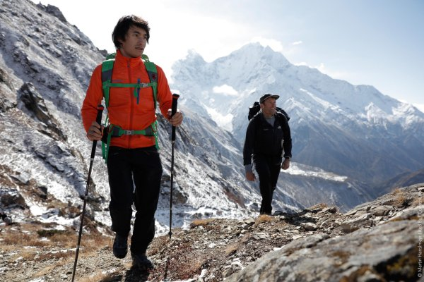 Climbing star David Lama also presented Gore-Tex: here on the Lunag Ri in the Himalayan Mountains.