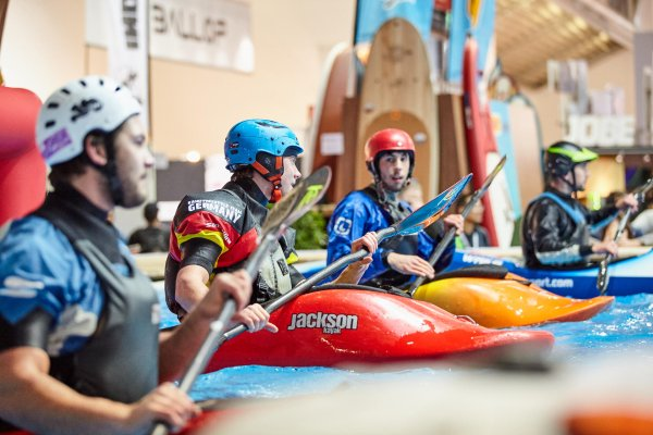 There is a permanent home for kayaking and canoeing at ISPO MUNICH, in the Water Sports Village.