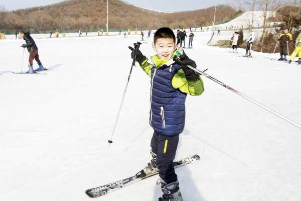 Skiing is booming in China.
