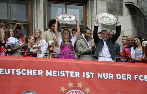 They celebrated the championship together on the Munich city hall balcony in 2015 and 2016: Melanie Leupolz and Franck Ribéry.