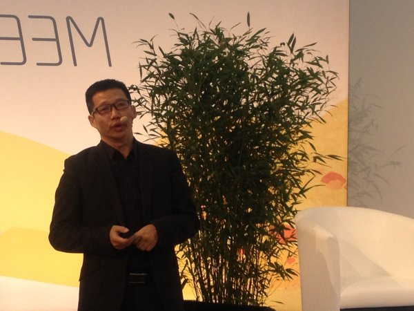 Benny Wu, Chief Strategy Officer at the Vanke Group, presenting the White Book.