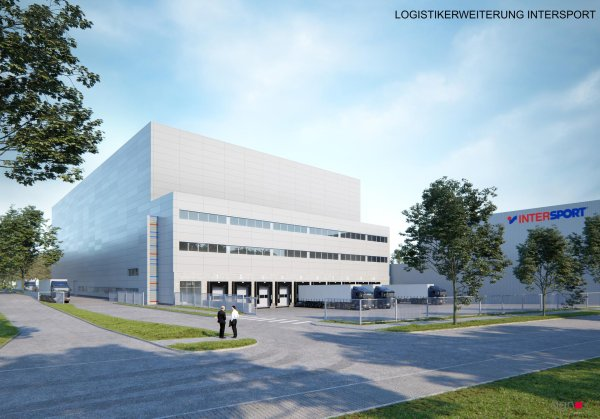 How the new high-bay warehouse with a surface area of around 6,000 square meters and a height of 36 meters will look like.
