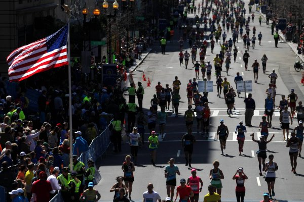 The Boston Marathon has taken place under heightened security precautions since the bomb attack of April 15, 2013.
