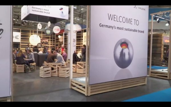 The VAUDE booth at ISPO MUNICH