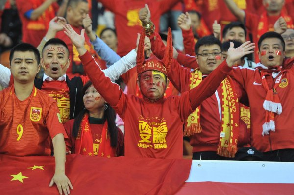 Soccer may be gaining ground in China, but in contrast to Germany, it's still far from the most popular sport.