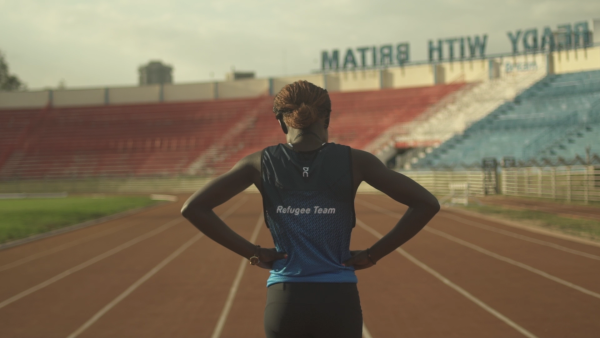 On sportswear is at the start line: The Athlete Refugee Team