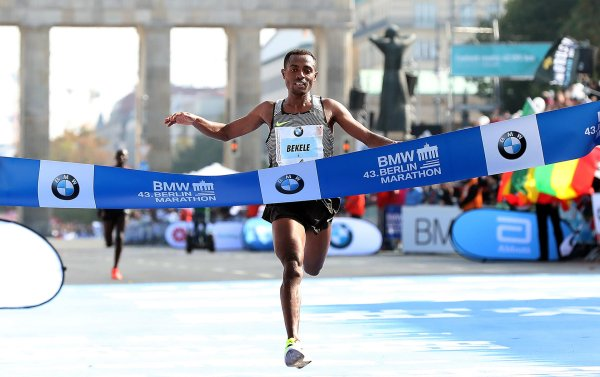 Olympic champion Kenenisa Bekele won the BMW Berlin Marathon 2016 with a time of 2:03:04 – just short of the world record.