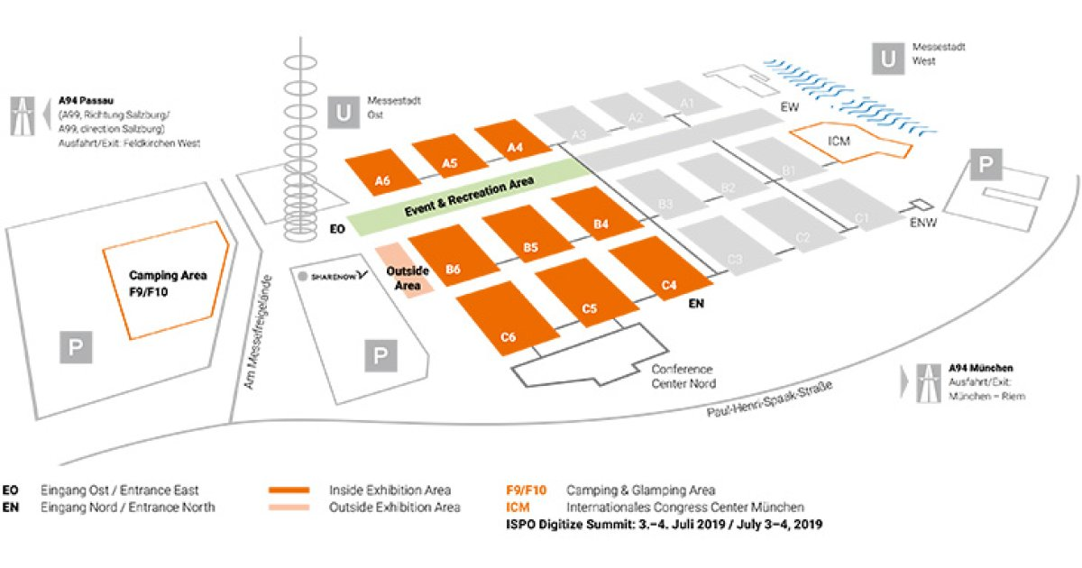 Outdoor By Ispo Hall Plan Fair Grounds Ispo Com