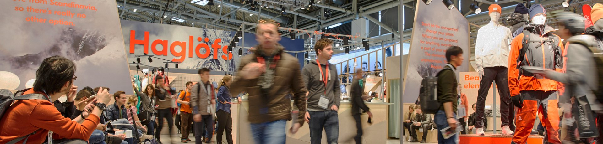 Exhibitors and visitors at ISPO Munich