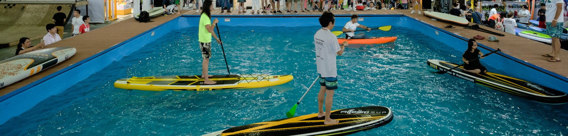 Paddling in ISPO Shanghai Water Sports area