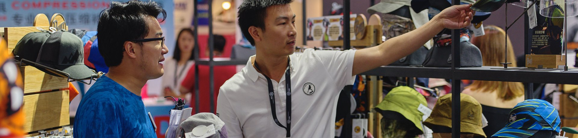 Exhibitor and visitor at ISPO Shanghai