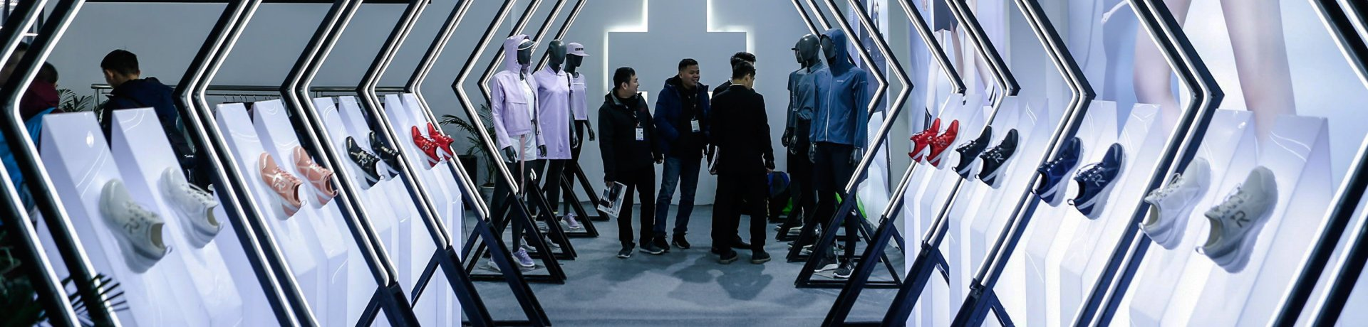 Presentation of sports shoes at ISPO Beijing