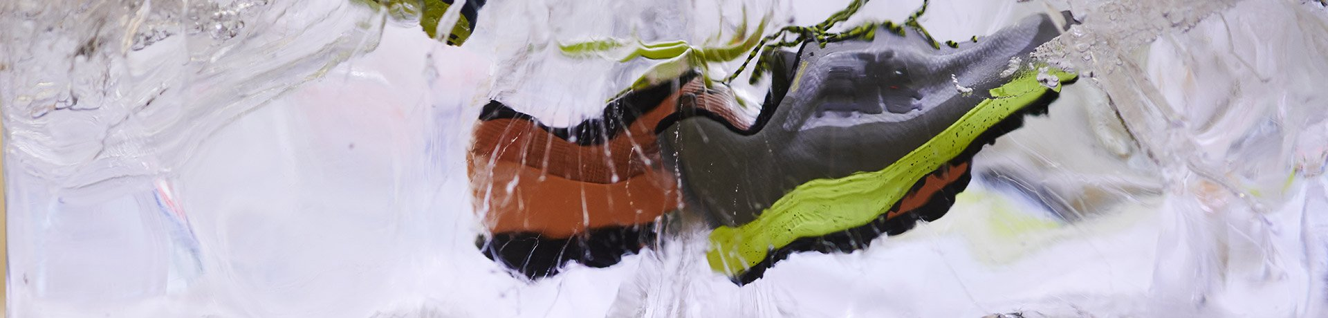 Shoes in ice