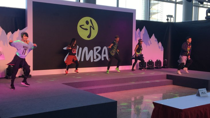 On the Fashion Show Stage there was one last performance, too. Instead of winter and outdoor sports, the exhibition visitors were introduced to Zumba.
