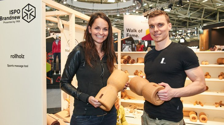 Blogger Magdalena Kalus tests the latest innovations in the ISPO Brandnew Village.