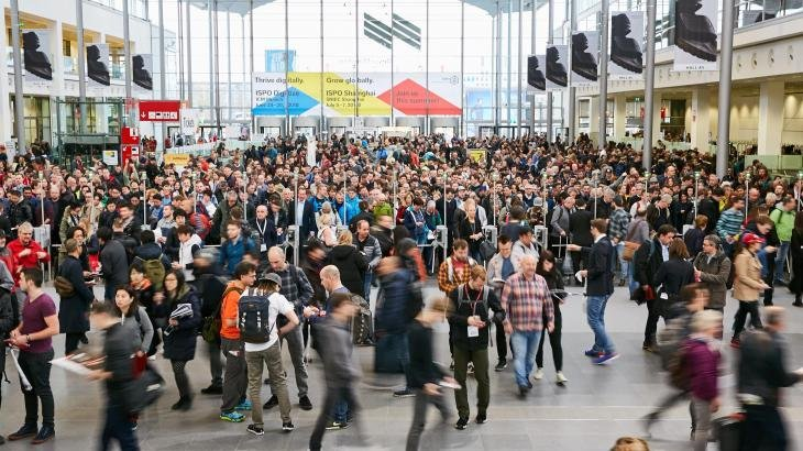 Lots of people came to the ISPO Munich 2018