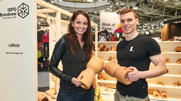 "... ""rollholz"" massage rolls. And of course, interested people could try out the products on site."